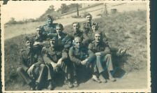 WW2 British Prisoners of War POW's Sat Outside in sun Photo Stalag XXI D Poland
