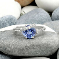 Simulated Tanzanite 925 Sterling Silver Ring Jewelry Size 6-9 DRR1104_H