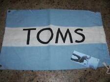 "LIGHT BLUE & WHITE "" TOMS "" SHOE BAG w/ORIGINAL SCUBA DIVER TAG & DRAWSTRING"