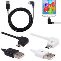 0.2M/1M/2M Right Angle Micro USB Charger Charging Data Sync Cable Fr Cell Phone