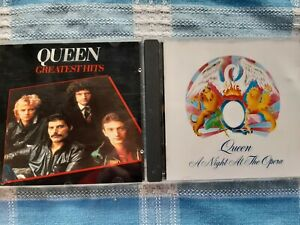 Queen - Night At The Opera + Greatest Hits Vol 1 CD's Job lot
