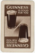 Playing Cards 1 Single Swap Card - Old Vintage GUINNESS Pint Glass BEER Brewery