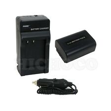 Battery+Charger Combo Set for Sony NP-FV50 NP-FV40 NP-FV30 InfoLithium