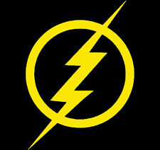 THE FLASH STICKER DECAL 130mm High YELLOW CAR UTE COMIC WALL WINDOW STICKERS