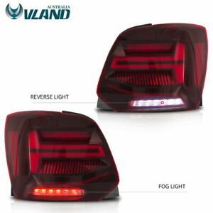 Customized RED CLEAR FULL LED Taillights For Volkswagen 2010-2017 Polo TSI GTS