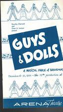 Guys & Dolls Program December 6 1955 Arena Theatre Rochester NY