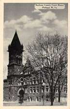 Philippi West Virginia Barbour Court House Street View Antique Postcard K82624