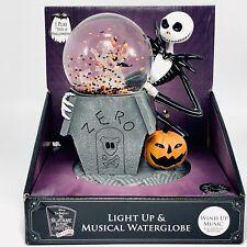 Nightmare Before Christmas Jack Zero Musical Snow Globe Train 25th Anniversary