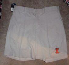 NEW NCAA Illinois Fighting Illini Golf Shorts Men 38 Stone Oxford NEW NWT
