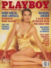 PLAYBOY MAY 1992-C – VICKIE SMITH – MICHAEL JORDAN – MISS AMERICA NUDE !!