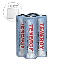 Tenergy Combo 4PCS AA 2500mAh High Capacity NiMH Rechargeable Batteries + 1 Case