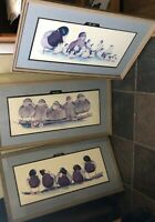 Art La May Framed Prints  The Boys The Girls The Kids set of 3 signed