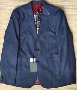 Ted Baker men's Malibu navy blazer size 4, Cotton & Linen mix