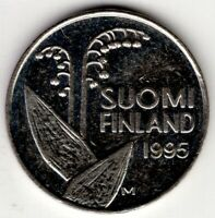 1995 FINLAND 10 PENNIA  NICE WORLD COIN