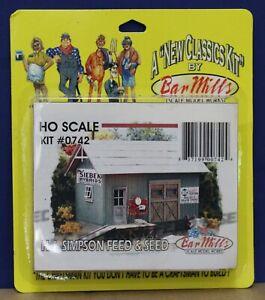 Bar Mills 0742 HO HJ Simpson Feed & Seed Laser Cut Craftsman kit NIB