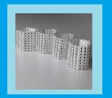25 Rhinestone Bow Covers 8 Row -silver wedding chair  napkin rings high quality
