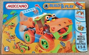 Meccano build and play 6108 age 5-8, 5 Models, 120+ Flexible parts, booklet New