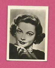 Gene Tierney Vintage 1950 Greiling Movie Film Star Cigarette Card