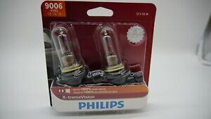 PHILIPS X-TREME VISION HB4 9006 CAR HEADLIGHT 55 WATTS HALOGEN BULB (PAIR)