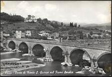 cartolina LUCCA ponte di monte s.quirico sul fiume serchio