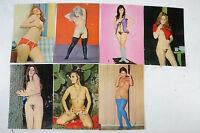 7 Postkarten weibliche Akte künstlerisch ausdrucksstark nicht gelaufen K24