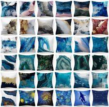 "Throw Pillow Cover Blue Indigo White Decorative Abstract Bed Cushion Case 18x18"""
