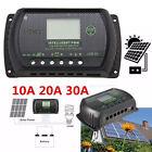 30A/20/10A 12V-24V LCD Display PWM Solar Panel Regulator Charge Controller Timer