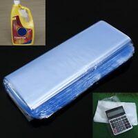 100Pcs PVC Heat Shrink Wrap Bags Film Clear Flat Seal Gift Packing 8'' x 12''  !