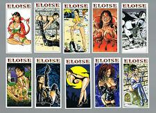 ELOISE BIG BOOBS, GOTH, HORROR COMPLETE CARD SET UK FREE POST