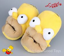 Novelty Homer Simpson Slippers Yellow Adult Funny Soft Plush Big Mouth Shoes New