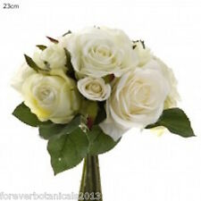 Rose Bouquet Cream White Wedding Flowers Artificial Flowers Roses
