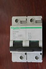 Schneider 18406 C120H B16 16A double pole 2P circuit breaker 400/415V 15k