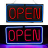 1XNeon Open Sign 24x12 inch Led Light 30W Horizontal Decorate Wall Hanging Chain