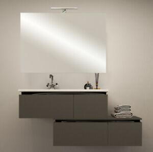 Mobile bagno arredo moderno 100+110 120 130 140 200 lavabo cassetti 5 colori E72