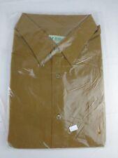 NWT Haband Mens Dress Shirt Medium Executive Series New Gold Mustard 1GC BH