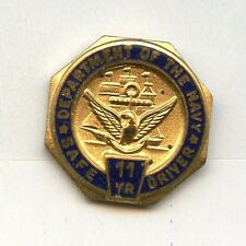 US Navy Safe Driver Award 11 years lapel button mint on card