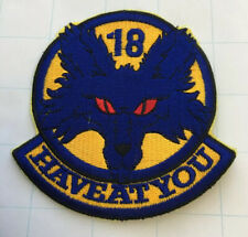 """USAF 18th FS Fighter Squadron """"Have at You"""" 3.75"""" Patch"""