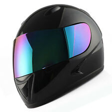 Youth Full Face Motorcycle Helmet Kids Bike Black Blue Green Orange Pink Red YLW