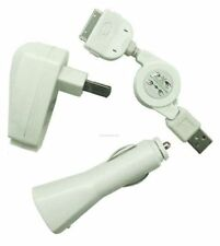 3 in 1 iPhone iPod Car/ Wall Charger /USB Cable
