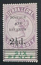 MOMEN: SIERRA LEONE SG #60 1897 MINT OG NH LOT #60531