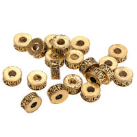 11mm Gold Round Metal Spacer Beads Loose Beads for DIY Jewelry Making 20 Pcs