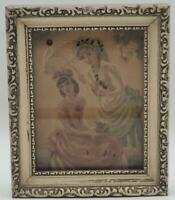 Antique Framed Lithograph French Fashion Victorian Art