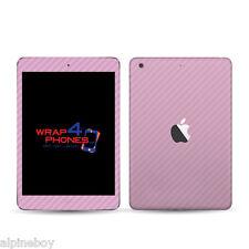 3D Carbono Con Textura Vinilo Pegatina Calcomanía cubierta de piel Envoltorio todos Apple iPad comprimidos