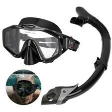 Adults Full-dry Swimming Snorkel Set Half Face Scuba Diving Snorkeling Mask Usa