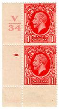 (i.b-ck) GIORGIO V postale: 1D ROSSO (SG 440) marginali con controllo