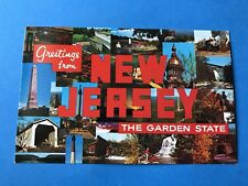 Vintage Postcard Post Card New Jersey The Garden State 1987