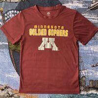 Youth Kids Medium Maroon Red Minnesota Golden Gophers Short Sleeve T-Shirt
