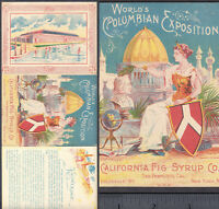California Fig Syrup Cure San Francisco 1893 WCE Exposition Advertising Booklet