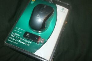 Logitech V220 Cordless Optical Mouse For Notebooks New In Package