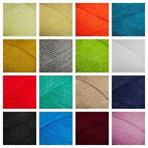 DK Acrylic Yarn Happy Sheep Double Knit Baby Knitting & Crochet Wool - PACK OF 4